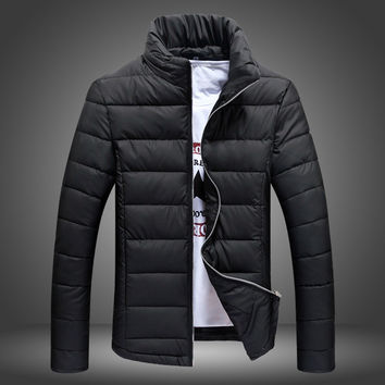 Mens Slim Poofy Cotton Jacket