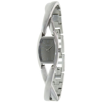 DKNY NY8872 Women's Crossover Silver Dial Stainless Steel Bracelet Watch