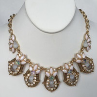 Glenda Opalescent Statement Necklace Set