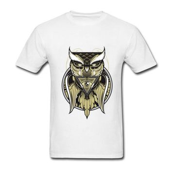 Cool Design illuminati pyramid Owl Eye of the Beholder Men t-shirt tiger paris t shirts for male tshirt rick and morty Kawaii Pokemon go  AT_89_9