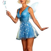 Dreamgirl Women's Light Up Blue Fairy Costume