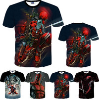 2016 American Comic Marvel Deadpool Printed 3D T-Shirt