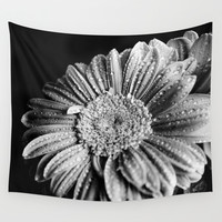 Gerbera black and white Wall Tapestry by VanessaGF