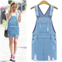 Popular Fashionable Jeans Mini Skirt Casual Boho Dress b1743