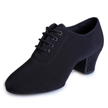 Sports Shoes Canvas Latin Dance Shoes Woman Adult Modern Ballroom Dance Shoes Teacher Shoes Oxford With Two Points Sneakers