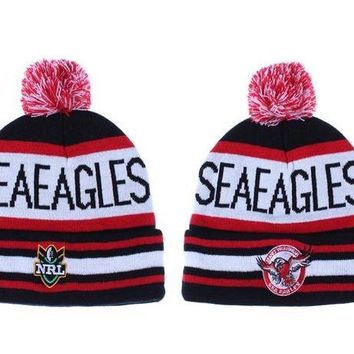 DCCKBE6 Manly Warringah Sea Eagles Beanies NRL Football Hat