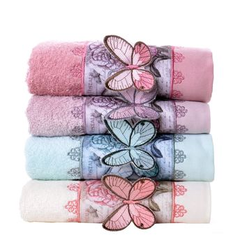 Minteks Bufferfly Decorative Hand Towel Sets