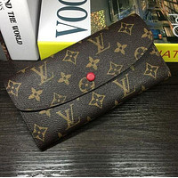 LV Buckle and zipper Women Leather Purse Wallet H-MYJSY-BB
