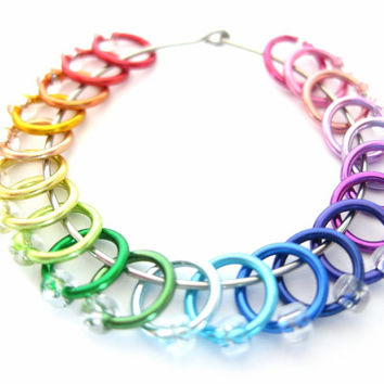 Extra Small Rainbow Stitch markers for socks | Stitchmarkers | Dangle free markers | Knitting supplies | Knitting Gift | clear beads | #0581