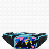 Vintage Renewal Bum Bag in Black and Blue - Urban Outfitters