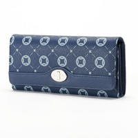 Croft & Barrow File Master Clutch Wallet (Blue)