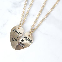 Partners In Crime Friendship Necklaces