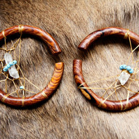 MADE TO ORDER-Dream Catcher wood Hoop Gauges/ Plugs