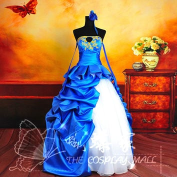 Fate/Zero Saber cosplay costume Halloween Costumes for women anime clothes party fancy dress with gloves