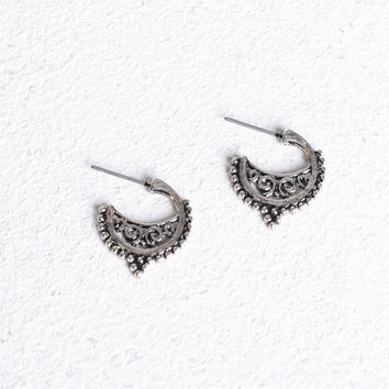 Mini Filigree Hoop Earrings