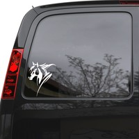 """Auto Car Sticker Decal Horse Animal Tribal Art Truck Laptop Window 5"""" by 6.4"""" Unique Gift ig4122c"""