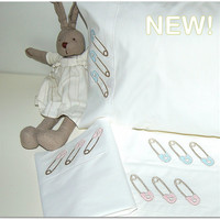 baby crib sheet set ,best quality, baby pin applique embroydery