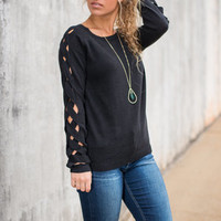 By The Braid Sweater, Black