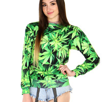 GANJA LEAVES SWEATER