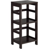 Leo Storage Open Shelf, 3-Tier, 2-Section, Narrow, Espresso - Walmart.com