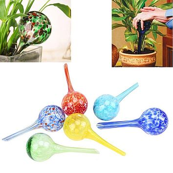 WHISM 100ml Glass Self Automatic Drip Irrigation Ball Lazy Watering Device Bulbs Globes Plant Flowers Bonsai Waterer for Garden