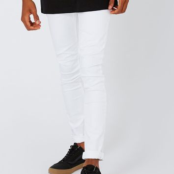 White Spray On Skinny Jeans | Topman