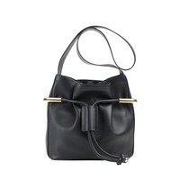 Chloé Emma Medium Bucket Bag - Black Leather Bucket Bag - ShopBAZAAR