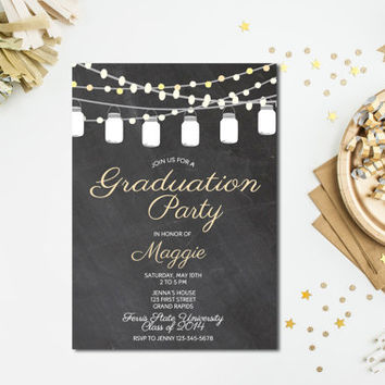 Graduation Invitation - Graduation Open House Party - High School Graduation - College Graduation Invite