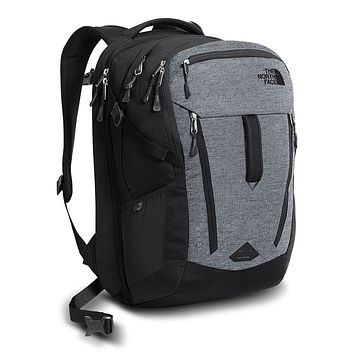 Surge Backpack in Mid Grey & Asphalt Grey Melange by The North Face