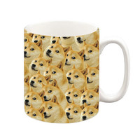 Shibe Doge All Over Mug, Coffee Mug, Tea Cup, Tea Mug, Funny Mug, Meme Mug