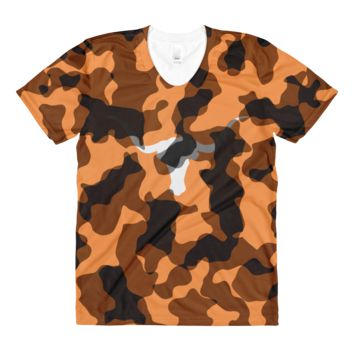 Austin Cattle Camouflage Women's All-Over Crew neck T-shirt