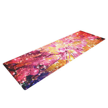 "Ebi Emporium ""Out There"" Pink Yellow Yoga Mat"