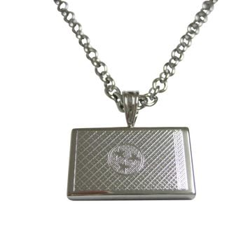 Silver Toned Etched Tennessee State Flag Pendant Necklace