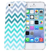 iPhone SE Case, Fosmon MATT Series Rubberized Chevron Case for Apple iPhone SE / 5S / 5 / iPhone SE / 5S / 5S (Mint)