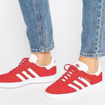 adidas Originals Red Suede Gazelle Sneakers at asos.com