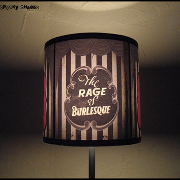 Burlesque Cabaret Lampshade lamp shade by SpookyShades on Etsy