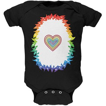 Halloween Rainbow Heart Unicorn Costume Pony Soft Baby One Piece