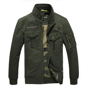 Free Shipping AFS JEEP Brand Military Style Jackets Coat Men Dress 2017 New Men Clothing Plus Size M-XXXL 115D