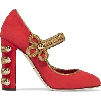 Embellished suede pumps | DOLCE & GABBANA | Sale up to 70% off | THE OUTNET