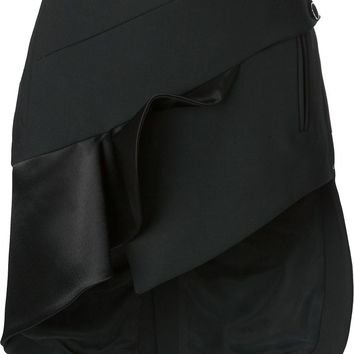 Anthony Vaccarello ruffled front asymmetric skirt