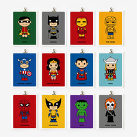 Cute superhero 5x7 art prints by loopzart on Etsy