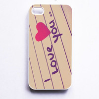 I Love You Phone Case For iPhone Samsung iPod Sony
