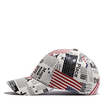 Leather Baseball American Flag Hat