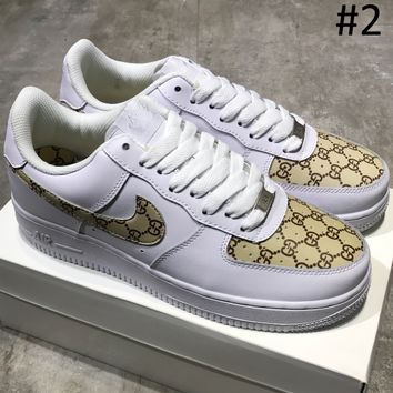 NIKE & GUCCI & LV Louis Vuitton Air Force 1 2018 Summer New Casual Fashion Sneakers F-MDTY-SHINING #2