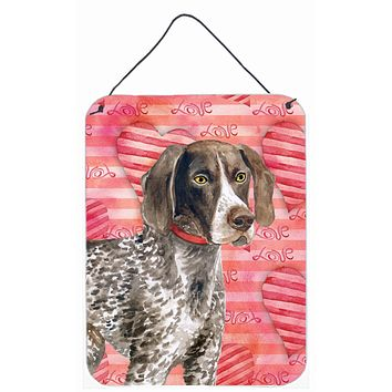 German Shorthaired Pointer Love Wall or Door Hanging Prints BB9728DS1216