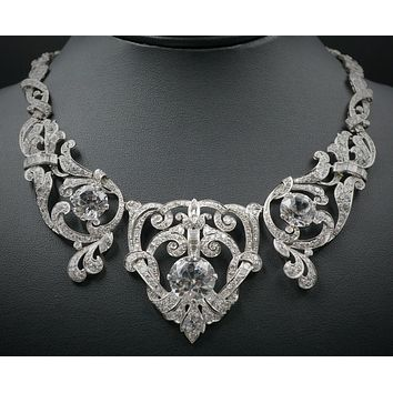 122.88TCW Pave Russian Lab Diamond Necklace