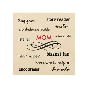 Mom Gift - Words of the Job Wood Wall Art