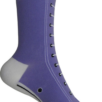 High Top Sneakers Crew Socks in Purple