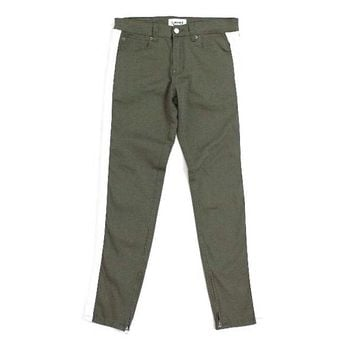 Fred Striped Pants (Olive Green)