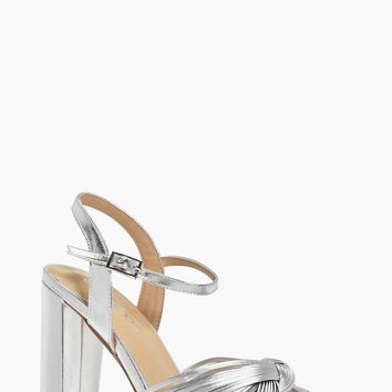 Lola Knot Front Platform Two Part | Boohoo